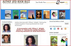 Tiffany Wright's feature on Author and Book Buzz.
