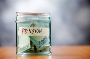 An unfunded pension means some money is in the jar, but not enough!