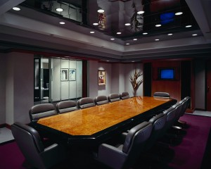 empty corporate board room