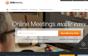 GoToMeeting's web page