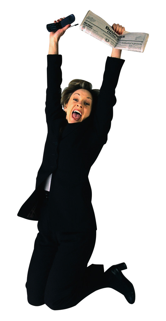 business woman jumping for joy the resourceful ceo