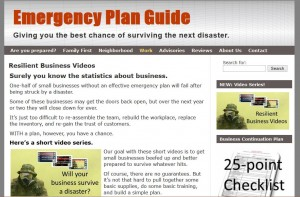 Picture of emergency planning website