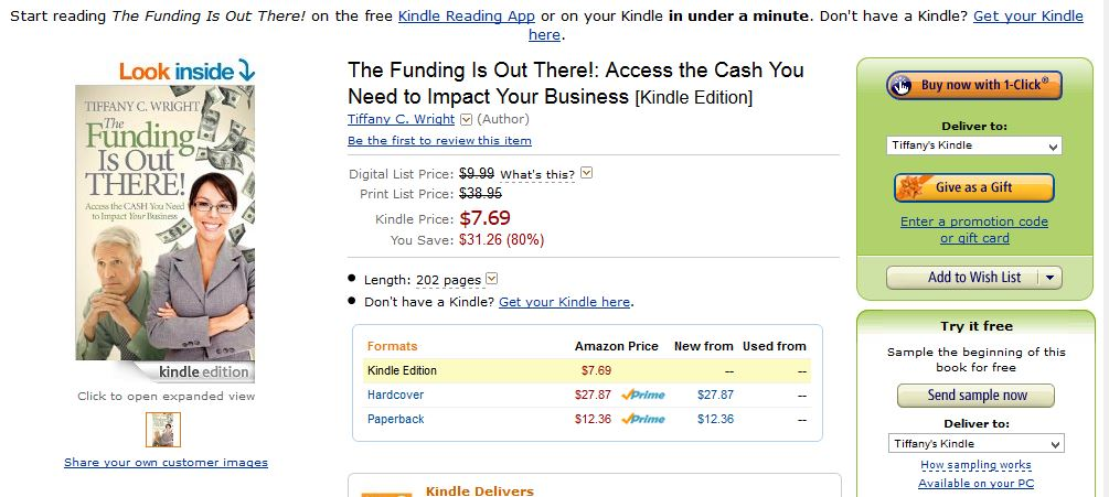 The Funding Is Out There! Amazon page