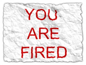 Paper stating You are fired