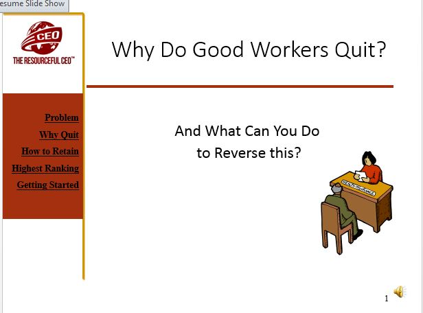 Presentation: Why Do Good Workers Quit