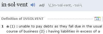 definition of insolvent