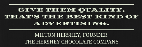 Advertising quote from Hershey