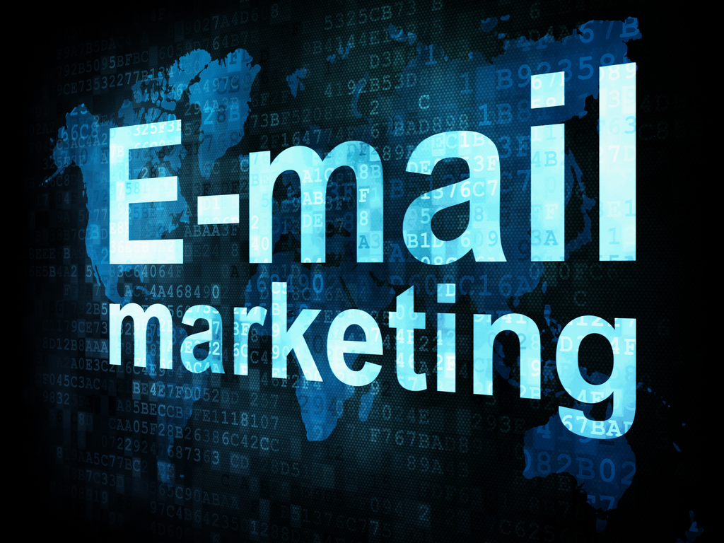 Online marketing through email marketing.