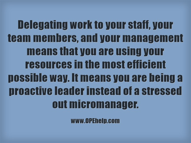 Delegating quote