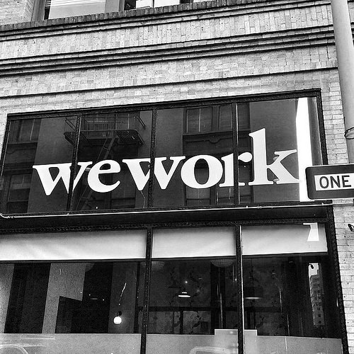 The wework co-working model.