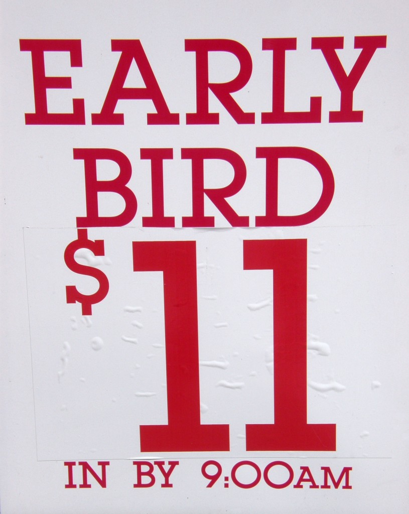 Pricing sign