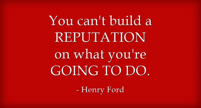Online reputation quote from Henry Ford