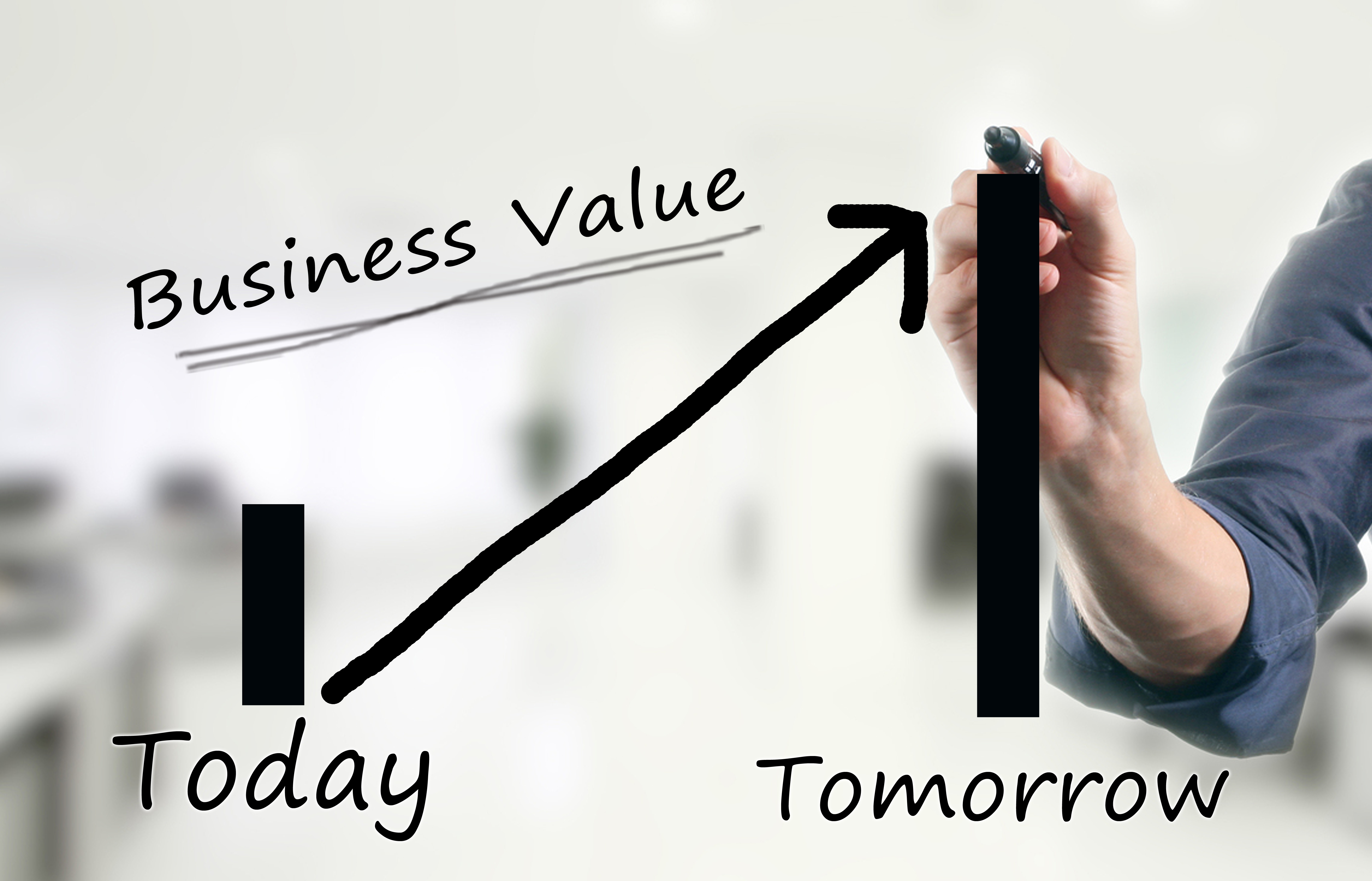 ... valuation, that business value will increase significantly tomorrow