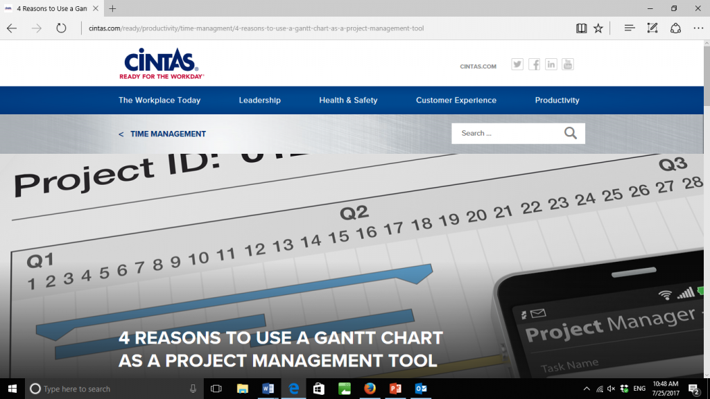 a Gantt Chart as a Project Management Tool
